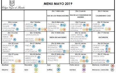 Menú de mayo