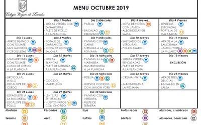 Menú de octubre de 2019