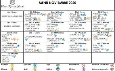 Menú de noviembre de 2020