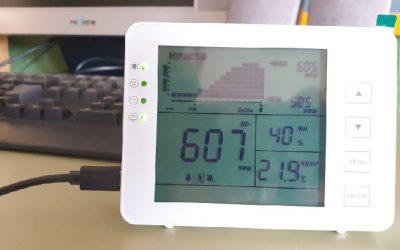 Nuestras aulas disponen de nuevos medidores de CO2